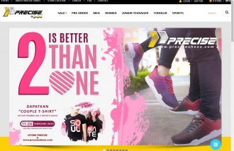 web-design-jakarta-for-precise-shoes-indonesia - Web design surabaya
