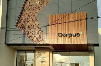 corpus-3d-letter-timbul-with-led-lamp-and-acp-facade-wall-cladding-with-grm-wood-and-led-lamp - Web design surabaya